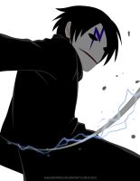 Darker than Black - The Black Reaper by AquaWaters