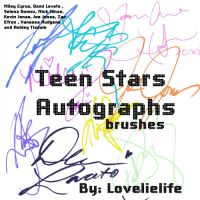 Teen stars signatures Brush by lovelielife