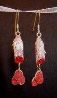 Salami Earrings by NJD-Miniatures
