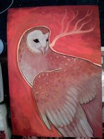 big owl painting by missmonster