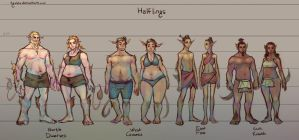 Fantasy Races: [3/4] Halflings by Tyshea