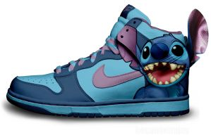 Stitch Nike Dunks by becauseimjay