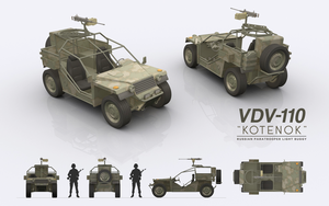 VDV-110 KOTENOK - Russian Paratrooper Light Buggy by cr8g