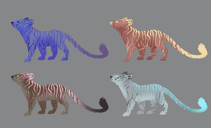 Point Adoptables: Tigers by Paper-Phoenix-Adopts