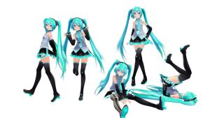 Pose Pack 2 Dl by MMDMikuMikuLen