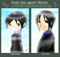 Draw this Again! meme - Francis by MayJasmine