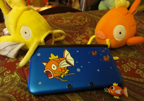 3DS XL Magikarp Edition by LaPopeArmadillo