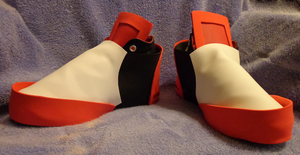Shadow the Hedgehog Shoes-Cosplay by kittygomou
