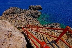 Steps to Fishing Bay by erene