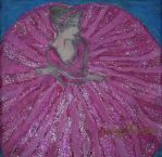 pink ballerina with glitter by ingeline-art