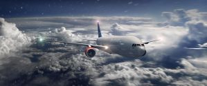 Commercial plane by Kenorway