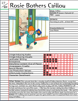 Rosie Bothers Caillou Notepage by Duckyworth