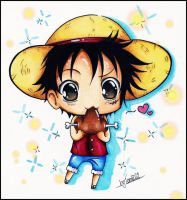 chibi luffy by KawaiiiPandaMuffiiin