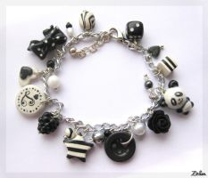 Black and White Bracelet by Zhoira