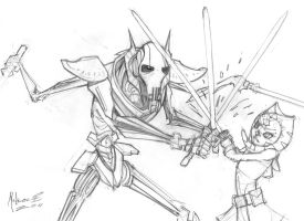 Grievous vs. Ahsoka by AdamMasterman