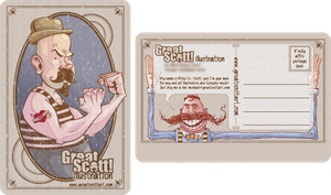 Self Promo Mailer by GreatScottArt