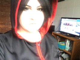 Uchiha Sasuke makeup and wig test 6 by isalteverything