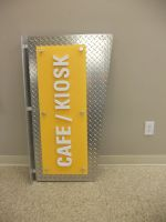 Diamond plate and acrylic signage by signcrafter
