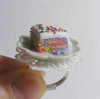 rainbow sprinkles cake slice from NeatEats shop by rhonda4066