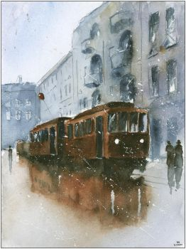 An old trams from Bytom by sanderus