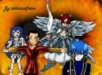 Wendy X Mest (w/ Erza and Gerard) by delacruzifixion