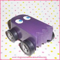 Sue the Pac Ghost Pinewood Derby Car by everythinganna