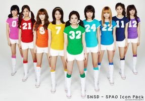 SNSD - SPAO Icon Pack by jaeliseop