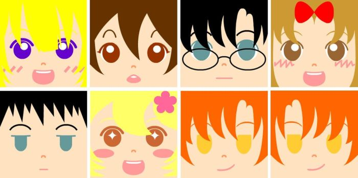 OHSHC Square Faces by SailorUsagiChan