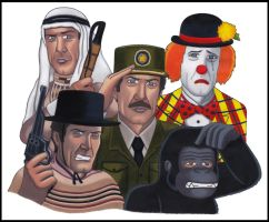 Bond Disguises of Roger Moore by DixieKong86