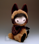 Tanuki Raccoon Dog Doll Sit by kaijumama