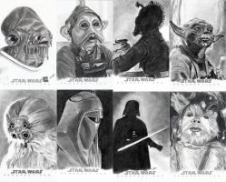 Topps Sketch Cards Group 3 by khinson