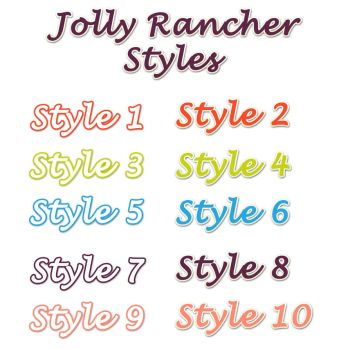Jolly Rancher Photoshop Styles by StacyO