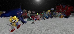 Conga Line on the Moon by JJsonicblast86