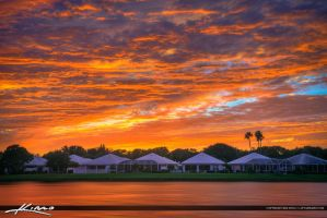 Sunset-Over-Palm-Beach-Gardens-Homes-at-Lake-Cathe by CaptainKimo