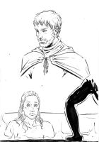 Jaime and Brienne by Pojypojy