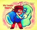 .: Laughy Sapphy! :. by Zamayn