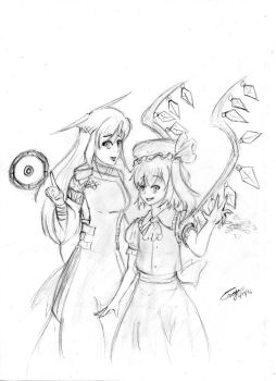 Athena and Flandre together by Tristan1237