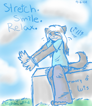 stretch. smile. relax. by princess-kitty-4444