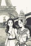 Shila and Apsara in Paris by cocon