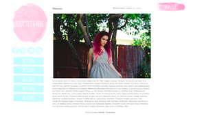 Blush Blogger Template by candypow
