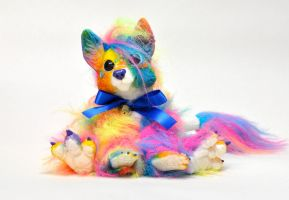Rainbow Dragon Fox by Magweno