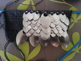 Dragonwear - gloves in progress by TouchedbyDragons