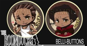 Boondocks button set by jinyjin