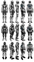 Mass Effect 3, Female Engineer Armour Reference. by Troodon80