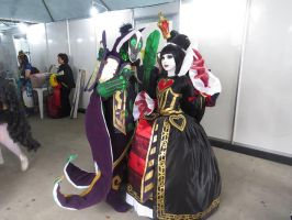 The queen and Rubick xD by HaruhichanxD