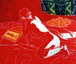 man on bed nude male painting erotic men paintings by shharc