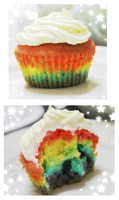 Rainbow Cupcake by CheshireNekoBoi