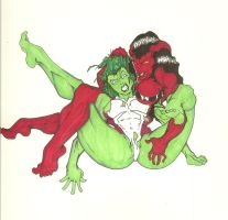 She Hulks colorerd by MadWicked