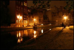 Bydgoszcz at night III by redreddaisy