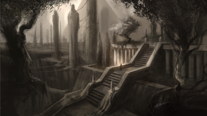 Ancient Staircase WIP by AlexRuizArt